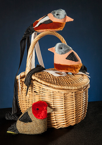 Storytelling birds and basket